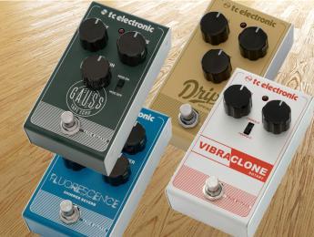 Fluorescence, Drip, Vibraclone y Gauss, los 4 nuevos pedales de TC Electronic