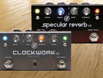 Specular Reverb y Clockwork Delay V3: Gfi System renueva sus pedales de reverberación y eco