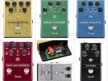 Fender presenta 5 pedales de Buffer, Compresor, Overdrive, Delay y Reverb