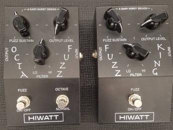 Hiwatt Octafuzz y Fuzz King, una reproducción de los diseños originales de Gary Hurst