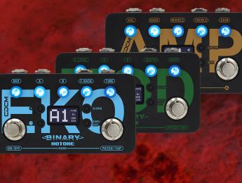 Hotone Binary Series, multiefectos compactos de emulacion de amplis, modulación y delay