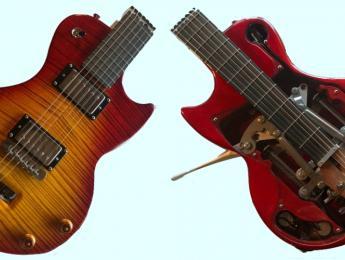 The Ascender, una guitarra eléctrica plegable que cabe en una mochila