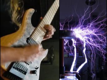 Así suena una bobina de Tesla usada como ampli de guitarra