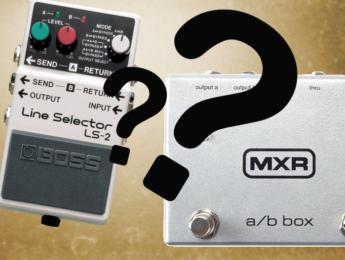 Pedales A/B y selectores de loops: conoce las diferencias