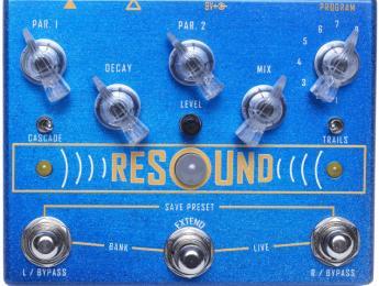 Cusack Resound, un pedal estéreo programable con 8 efectos de reverb