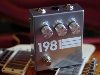1981 Inventions DRV, un pedal de saturación basado en el RAT Whiteface de 1985