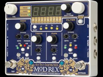Grandes posibilidades de modulación con el nuevo Electro-Harmonix Mod Rex Polyrhythmic Modulator
