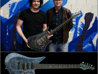 La compañía Lava Drops construye una guitarra para Jack White y se la regala durante un concierto