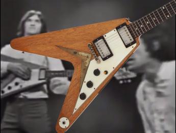 Subastan la Gibson Flying V que The Kinks usaron en la TV estadounidense en 1965