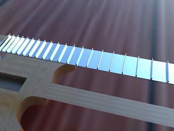 Subfretboard System Project: Un diapasón en el que los trastes son la base y la madera el relleno