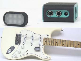 Airpatch, un bucle de efectos inalámbrico con un control remoto que se adhiere a la guitarra