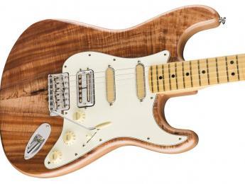 Koa Flame Ash Top Strat, la nueva Fender Rarities combina pastillas Filter'Tron y Gold Foil