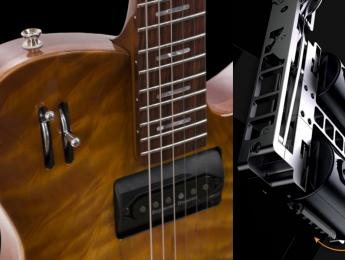 Gyrock: Guitarra con 6 pastillas montadas en cilindros giratorios para alternar entre ellas