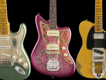 Dos Stratocaster, una Telecaster y una Jazzmaster en la Fender Custom Shop Mid-Year Collection 2019