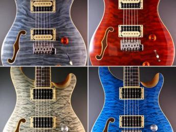PRS lanza una edición limitada de la SE Semi-Hollow Custom 22 con 4 nuevos acabados