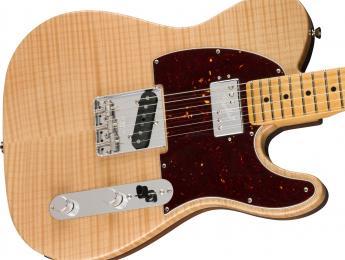 Aliso tostado y arce flameado con cámaras de resonancia en esta nueva Fender Telecaster Rarities