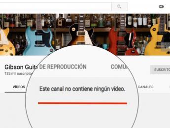 ¿Por qué han desaparecido todos los vídeos de Gibson en su canal de YouTube?