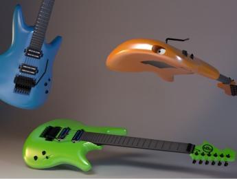 TheZero, una guitarra ergonómica y ecológica hecha con impresión 3D