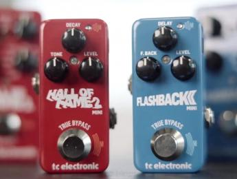 TC Electronic Hall of Fame 2 Mini y Flashback 2 Mini Delay, ahora con tecnología Mash