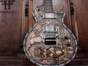 El luthier James Hutchinson convierte la ESP de Gary Holt en la deidad medieval Baphomet