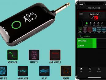 Nux Mighty Plug, amplificador de auriculares con multiefectos, Bluetooth, IRs, ritmos e interfaz USB