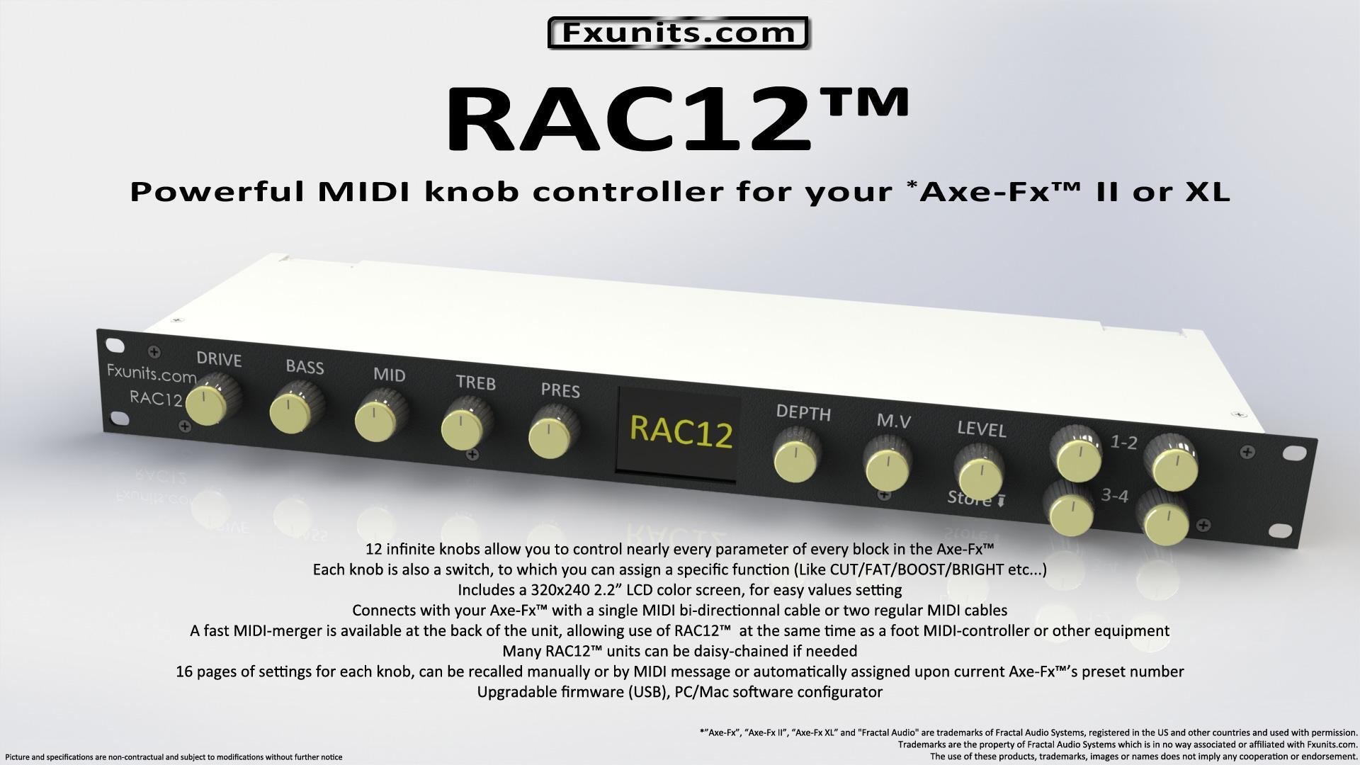 RAC12, controlador MIDI intuitivo para Axe-FX | Guitarristas