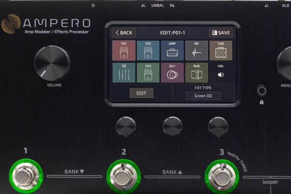Hotone Ampero: la competencia de la Mooer GE200 viene con pantalla táctil