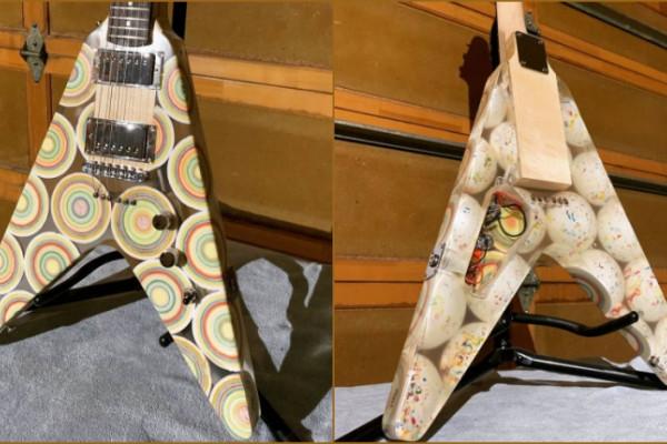 La guitarra más dulce: El cuerpo de esta Flying V está hecho con bolas de caramelo y resina