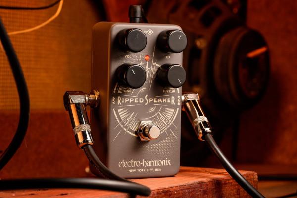 Electro-Harmonix Ripped Speaker y MOP-D10, un nuevo fuzz y una fuente de alimentación para pedales