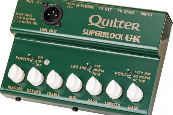 Quilter Super Block US y UK, dos minicabezales con tres voces estilo Fender y Vox/Marshall