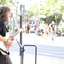 Con mi Strato en el Ayuntamiento, Valencia.